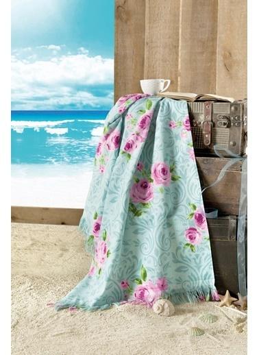 Maxstyle Rose Kadife Plaj Havlusu 70x160 Cm Renkli